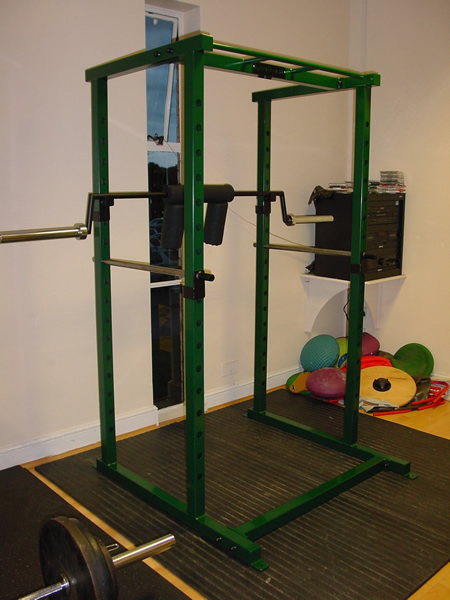 Note: Shown with Power Rack and bar handles detached.